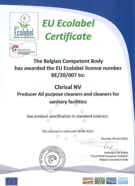 Hersteller EU Ecolabel Certificate