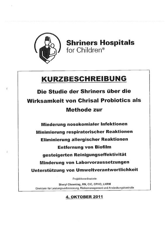 probiotische Reinigung im Kinderkrankenhaus